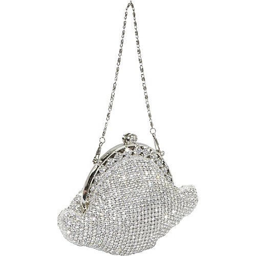 J. Furmani Crytsal Vintage Evening Bag Silver - J. Furmani Evening Bags