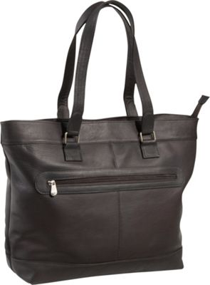 Le Donne Leather 16 inch Laptop Business Tote Cafe - Le Donne Leather Women's Business Bags