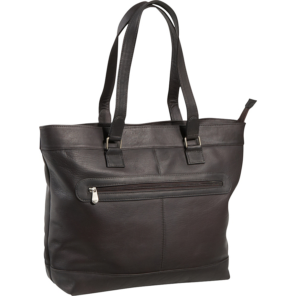 Le Donne Leather 16 Laptop Business Tote Cafe - Le Donne Leather Womens Business Bags - Work Bags & Briefcases, Women's Business Bags