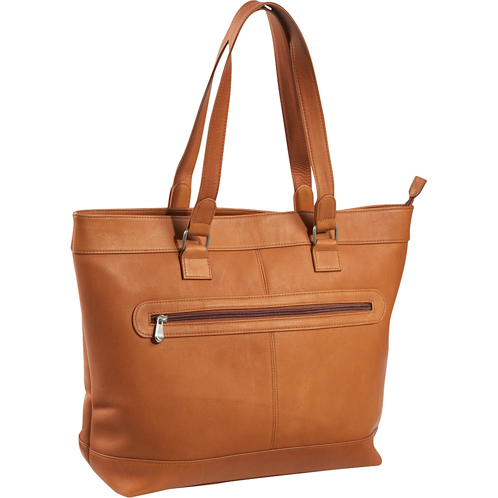 Le Donne Leather 16 Laptop Business Tote Tan - Le Donne Leather Womens Business Bags - Work Bags & Briefcases, Women's Business Bags