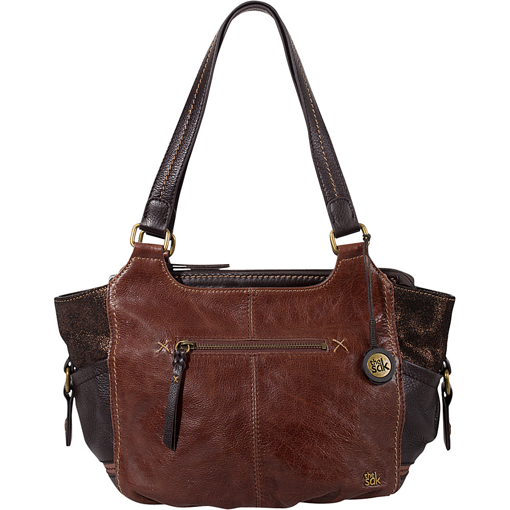 The Sak Kendra Satchel Teak Multi The Sak Leather Handbags