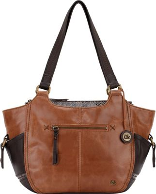 The Sak Kendra Satchel Brown Snake Multi - The Sak Leather Handbags