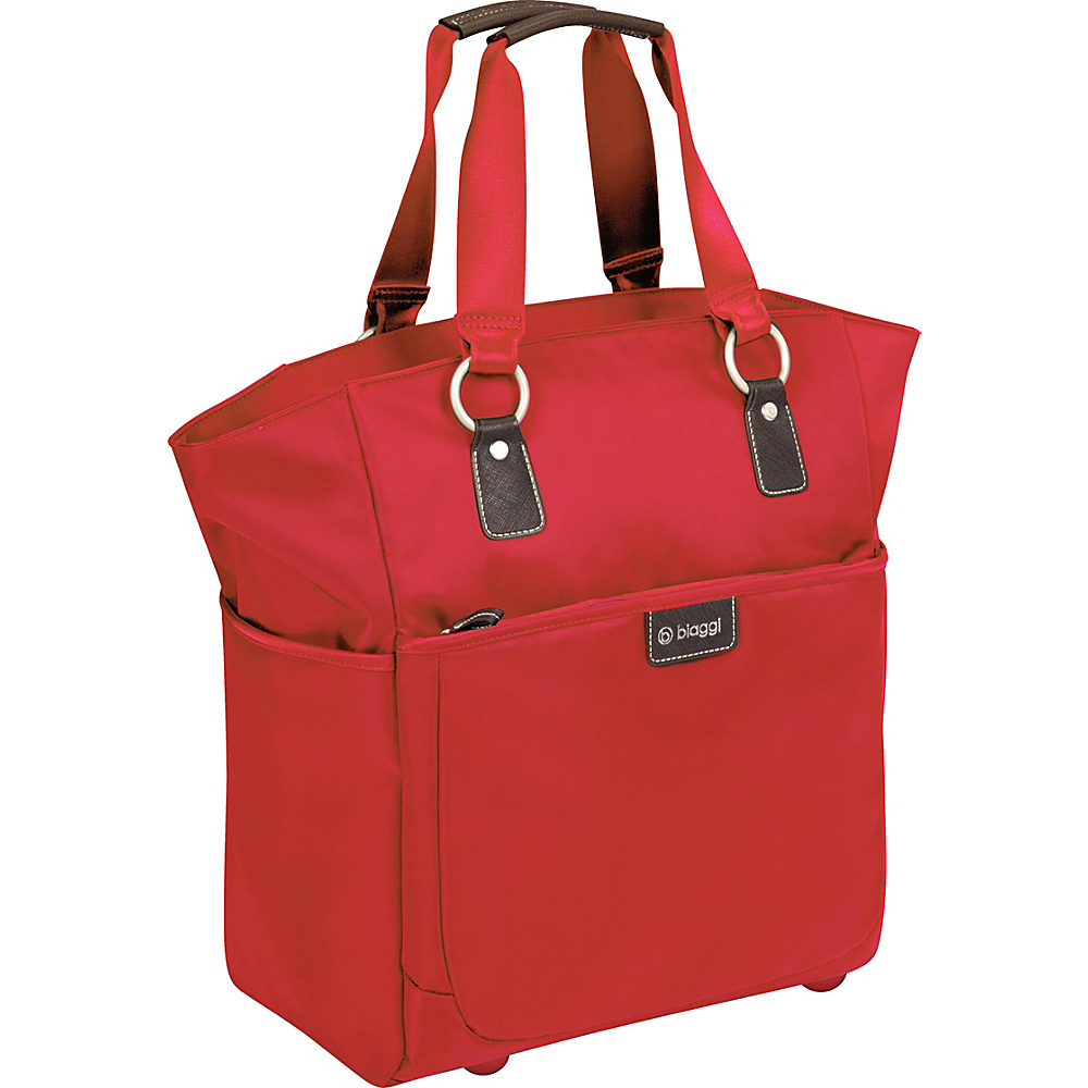 "biaggi Contempo Ladies 16"" Soft Fashion Tote Red - biaggi Luggage Totes and Satchels"