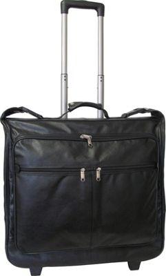 AmeriLeather Wheeled Leather Garment Bag Black - AmeriLeather Garment Bags