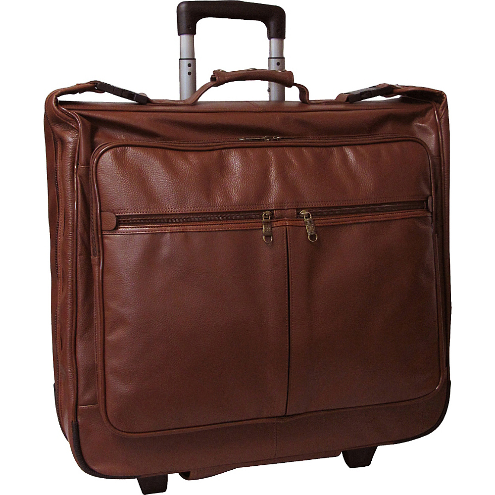 AmeriLeather Wheeled Leather Garment Bag Brown - AmeriLeather Garment Bags - Luggage, Garment Bags