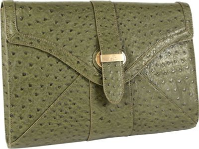 Koret Handbags Pure Ostrich Tablet Clutch