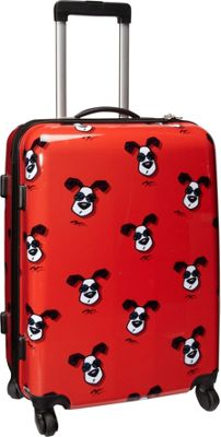 Ed Heck Luggage Looking Cool 25 inch Hardside Spinner Red - Ed Heck Luggage Hardside Checked