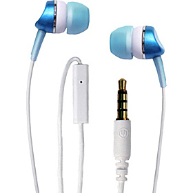 Metallics with Mic Earbud Blue