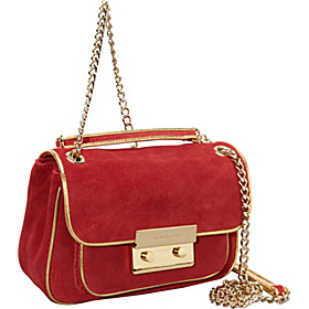 Sloan Small Shoulder Flap-Suede Red