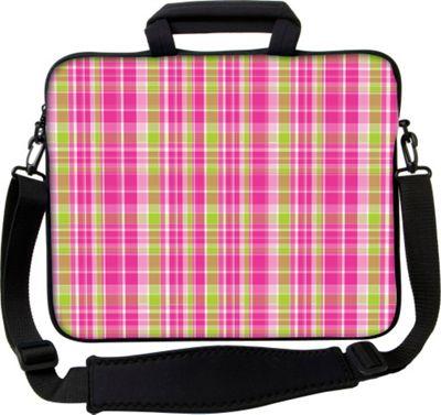 Designer Sleeves 14 inch Executive Laptop Sleeve by Got Skins? & Designer Sleeves Pink & Green Plaid - Designer Sleeves Electronic Cases