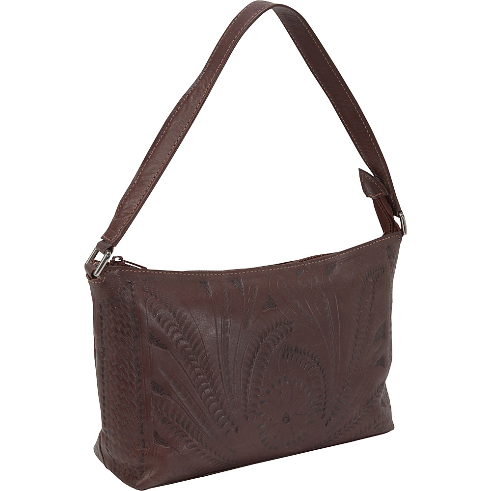Ropin West Clutch Purse Brown - Ropin West Leather Handbags
