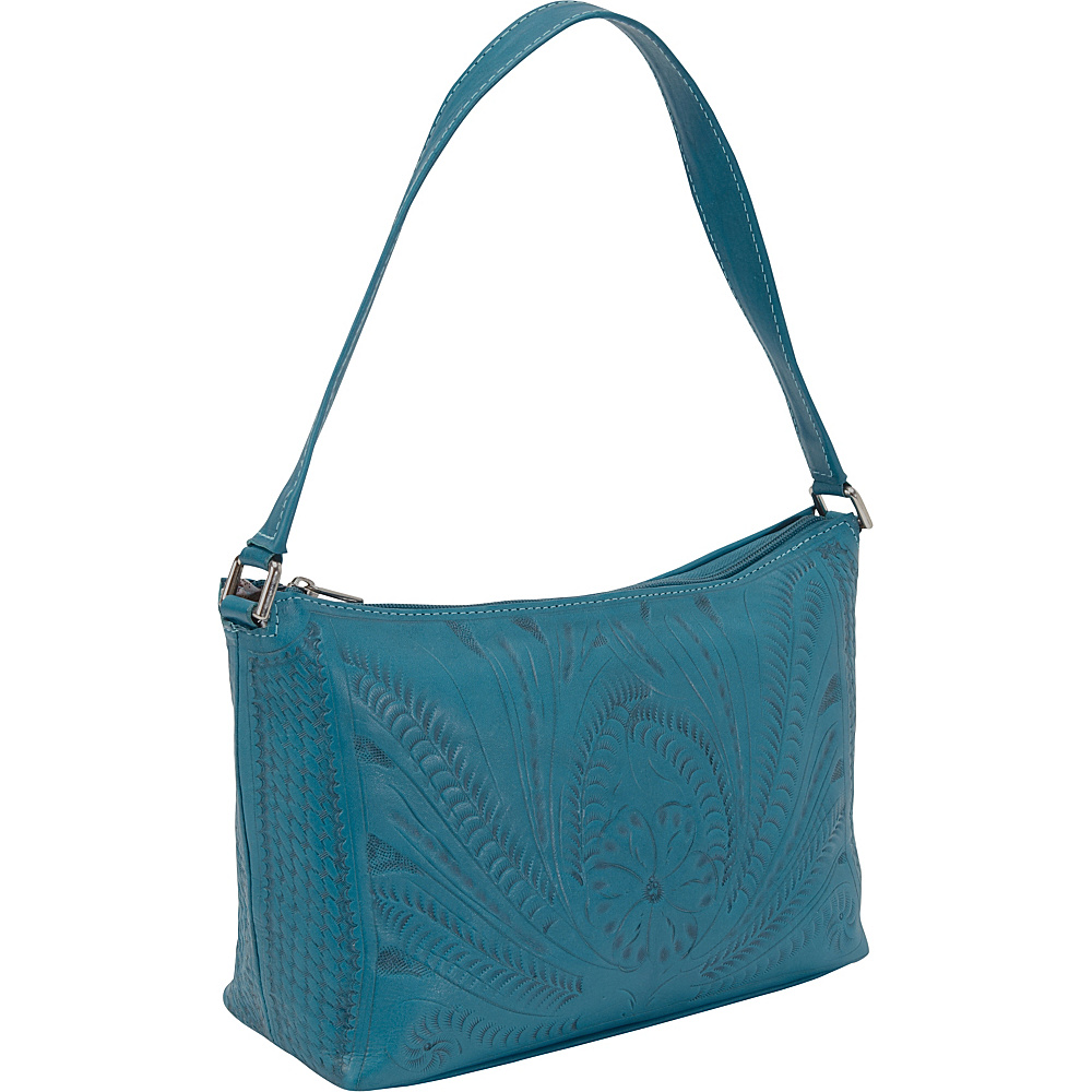 Ropin West Clutch Purse Turquoise - Ropin West Leather Handbags