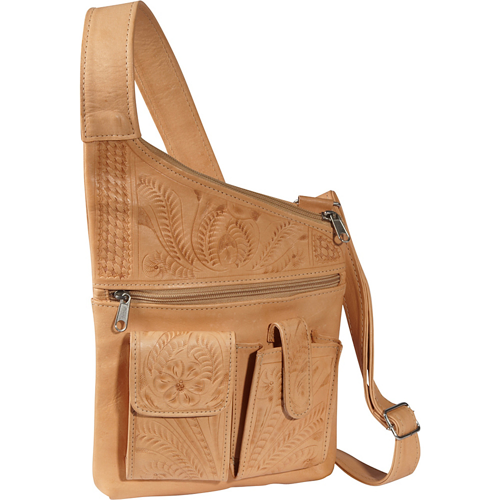 Ropin West Cross Over Crossbody Bag Natural Ropin West Leather Handbags