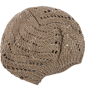 Knit Beret with Sequins Charcoal Grey