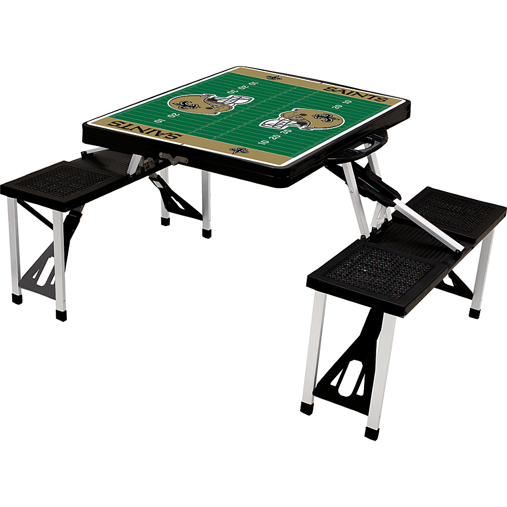 Picnic Time New Orleans Saints Picnic Table Sport New Orleans Saints Black - Picnic Time Outdoor Accessories - Outdoor, Outdoor Accessories