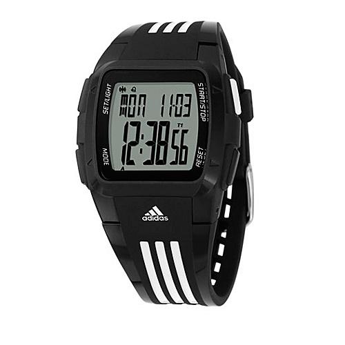 adidas originals Watches Adidas Performance Duramo Black with White Striped Band - adidas originals... (10218826 ADP6000-Black) photo