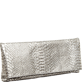 Evening Bags Snake Embossed Leather Jade Silver