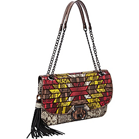 Angela WaterSnake Flap Shoulder Natural Multi