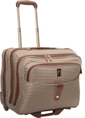 London Fog Chelsea Lites 17 inch Computer Bag Olive Plaid - London Fog Wheeled Business Cases