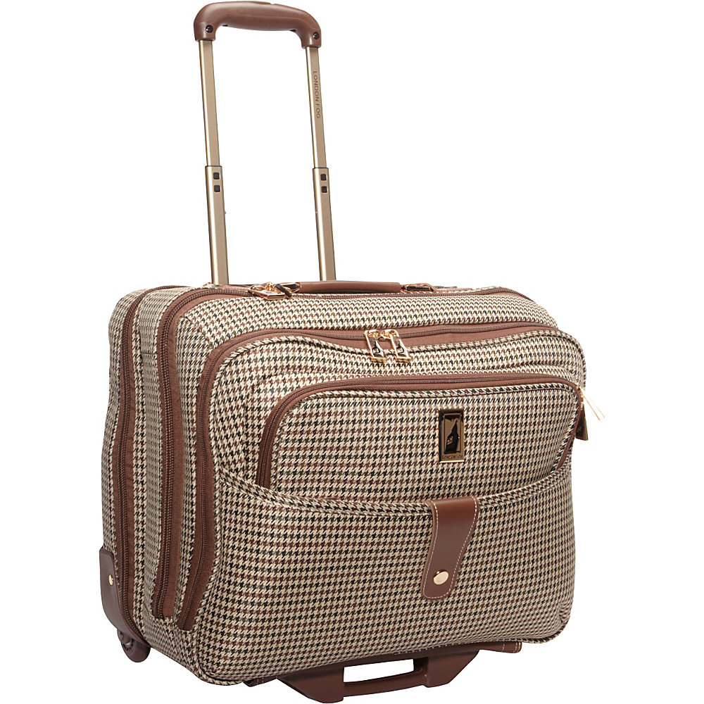 London Fog Chelsea Lites 17 Computer Bag Olive Plaid London Fog Wheeled Business Cases