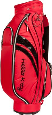 Hello Kitty Golf Hello Kitty Diva Cart Bag Red - Hello Kitty Golf Golf Bags