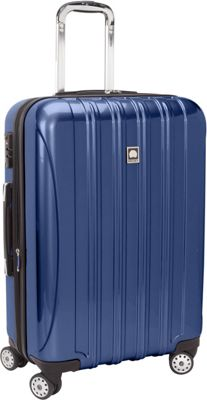 Delsey Helium Aero 26 inch Exp. Spinner Trolley Colbalt Blue - Delsey Hardside Checked