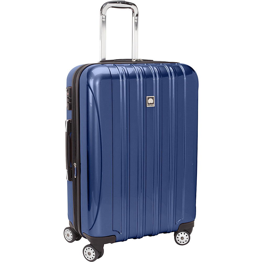 "Delsey Helium Aero 26"" Exp. Spinner Trolley Colbalt Blue - Delsey Hardside Checked"