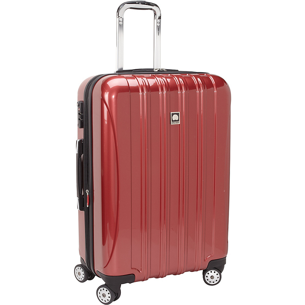 delsey helium aero 26 exp spinner trolley 2 colors hardside checked new ebay. Black Bedroom Furniture Sets. Home Design Ideas