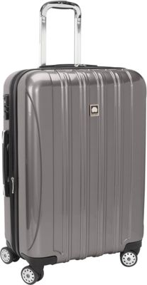 Delsey Helium Aero 26 inch Exp. Spinner Trolley Titanium - Delsey Hardside Checked