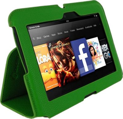rooCASE Ultra Slim Vegan Leather Case for Amazon Kindle Fire HD 7