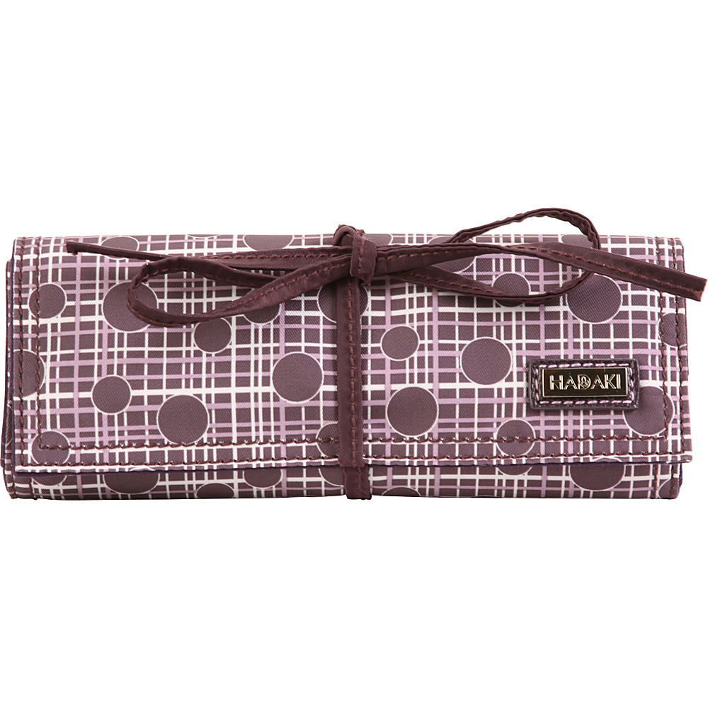 Hadaki Nylon Jewelry Roll Plum Perfect Plaid - Hadaki Travel Organizers - Travel Accessories, Travel Organizers