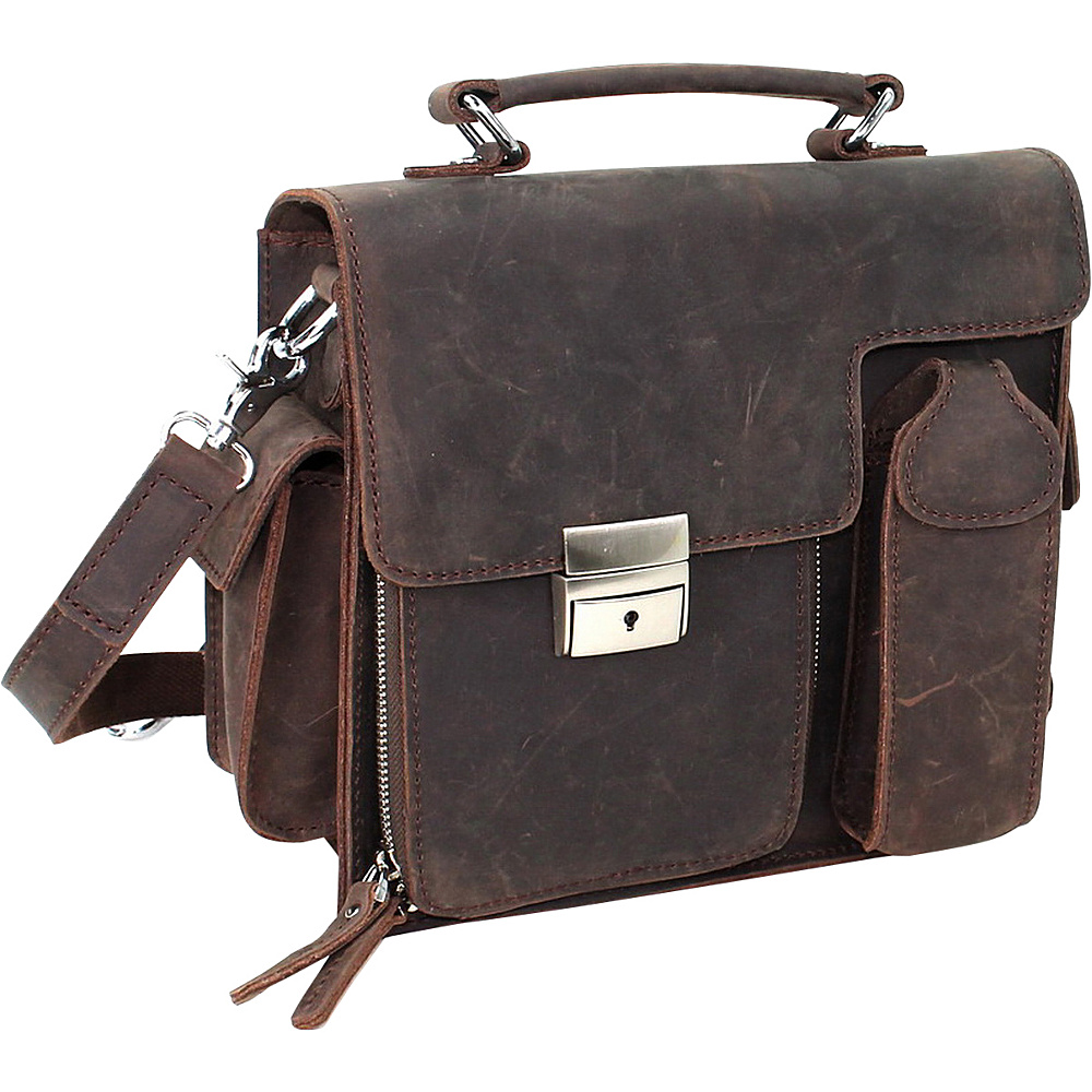 Vagabond Traveler 9.5 Cowhide Leather Shoulder Bag Vintage Brown - Vagabond Traveler Other Mens Bags - Work Bags & Briefcases, Other Men's Bags