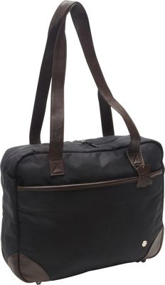 TOKEN Hudson Waxed Shoulder Bag Black - TOKEN Women's Business Bags