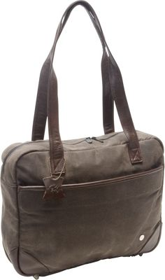 TOKEN Hudson Waxed Shoulder Bag Dark Brown - TOKEN Women's Business Bags