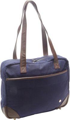 TOKEN Hudson Waxed Shoulder Bag Navy - TOKEN Women's Business Bags