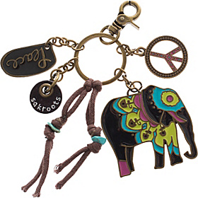 Artist Circle Keychain One World Elephant