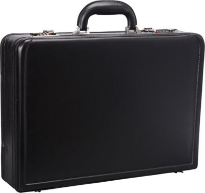 Mancini Leather Goods Expandable 15.6 inch Laptop Attach Case Black - Mancini Leather Goods Non-Wheeled Business Cases