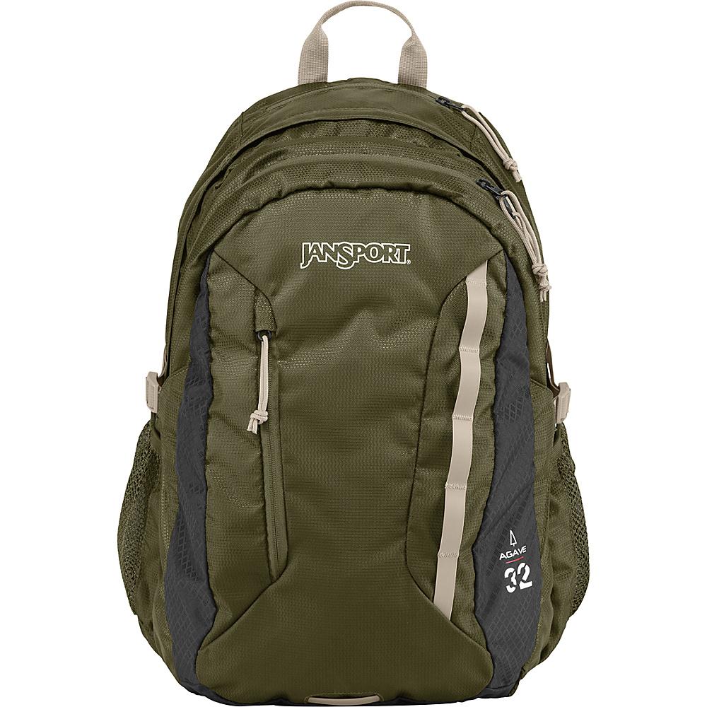 JanSport Agave Laptop Backpack Green Machine / Grey Tar - JanSport Laptop Backpacks - Backpacks, Laptop Backpacks