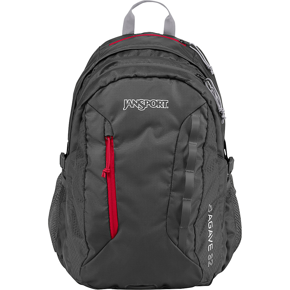 JanSport Agave Laptop Backpack Forge Grey / Red Tape - JanSport Business & Laptop Backpacks