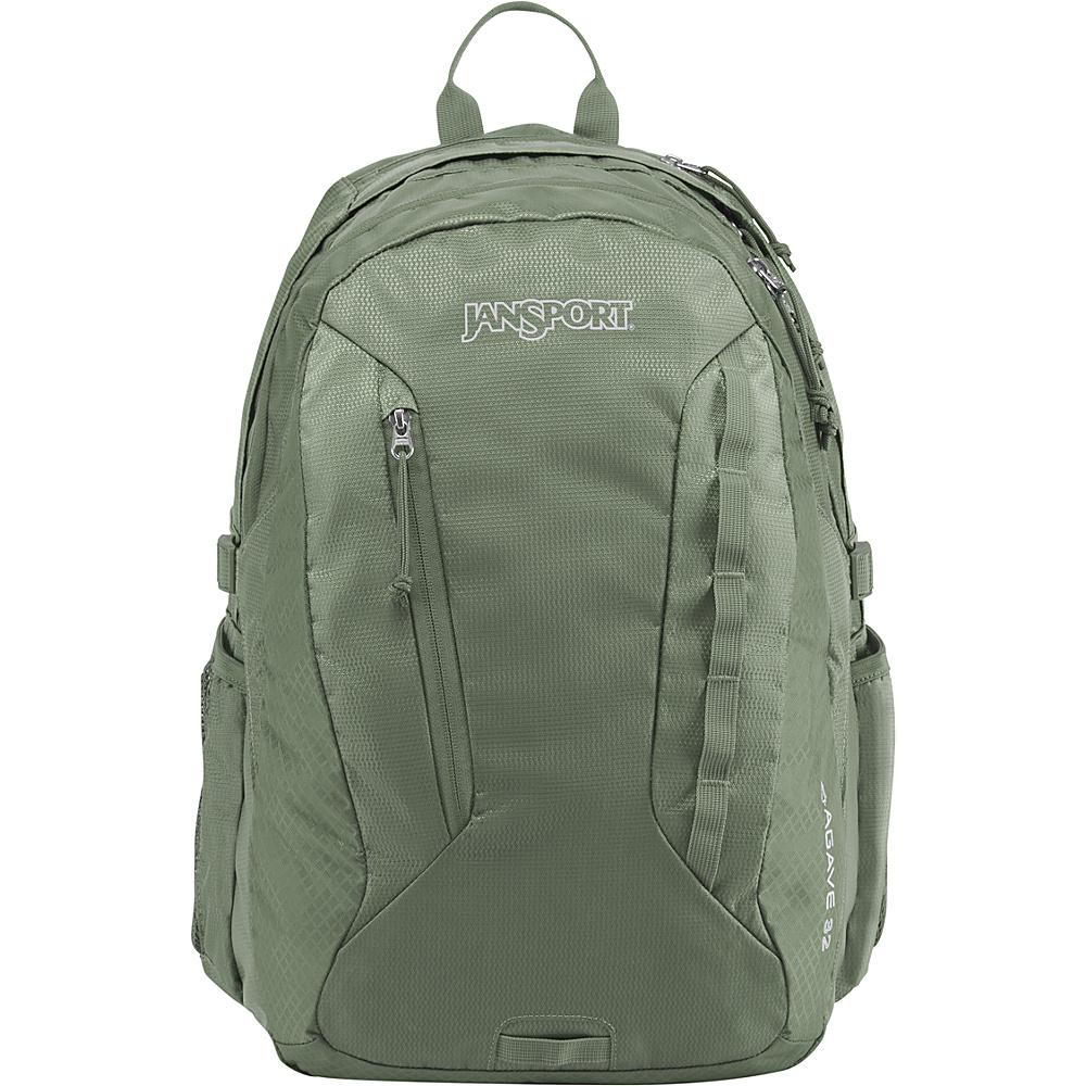 JanSport Agave Laptop Backpack Muted Green - JanSport Business & Laptop Backpacks