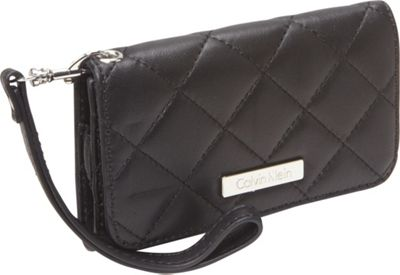 Calvin Klein Quilted Lamb iPhone Case Black Calvin Klein Personal Electronic Cases