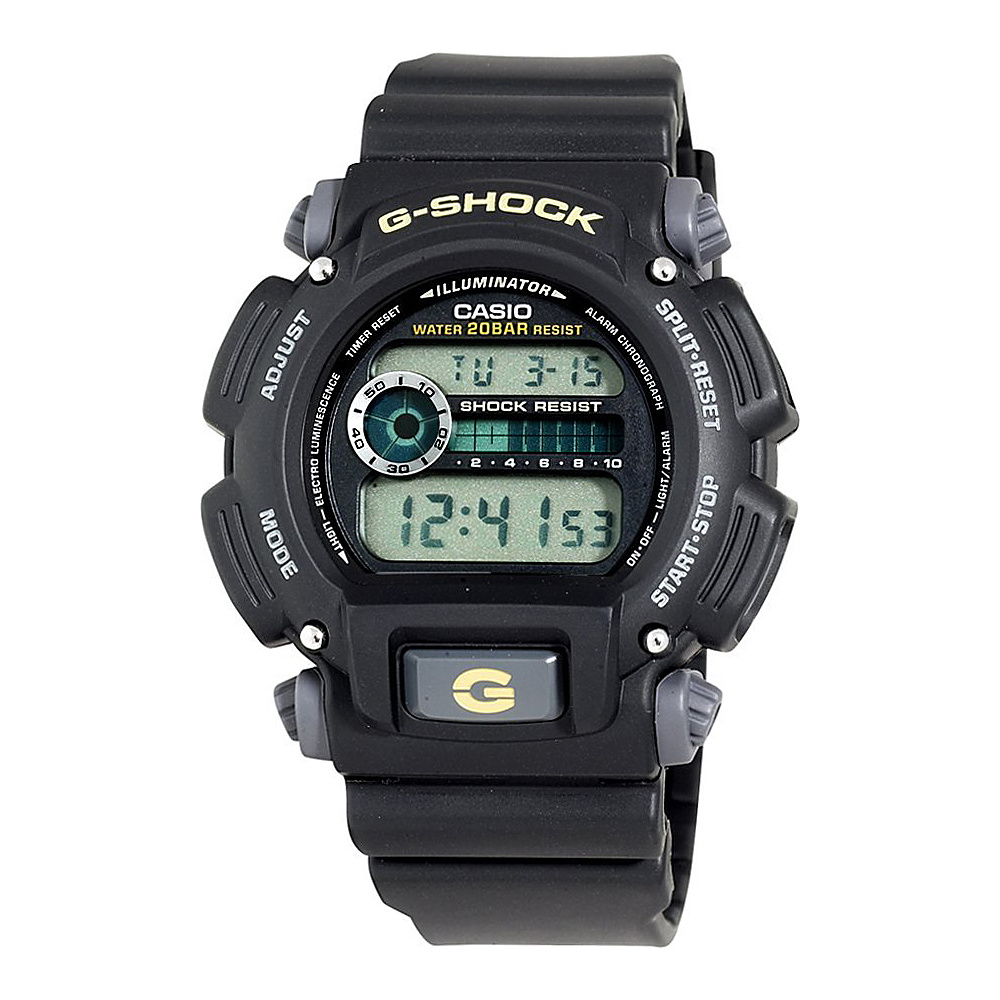 Casio Men's G-Shock Multi-Functional Digital Sport Watch Black - Casio Watches