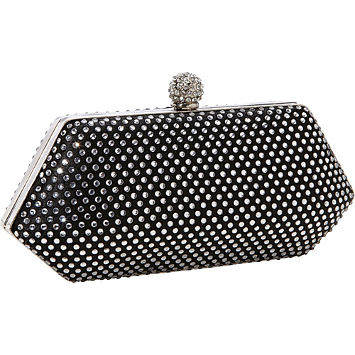 J. Furmani Hardcase Studded Evening Bag Black - J. Furmani Evening Bags