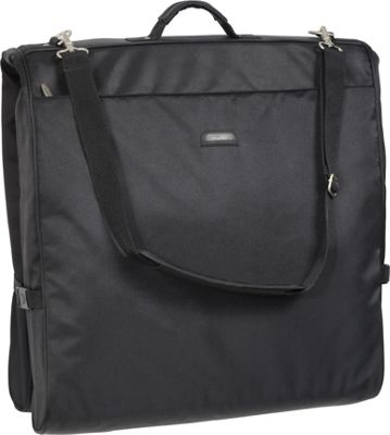 Wally Bags 45 inch Framed Garment Bag with Shoulder Strap Black - Wally Bags Garment Bags