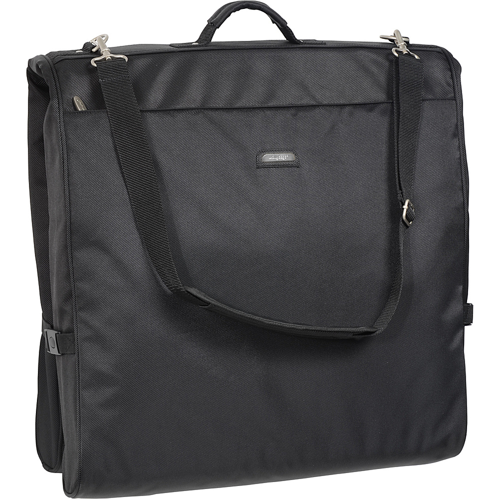 "Wally Bags 45"" Framed Garment Bag with Shoulder Strap Black - Wally Bags Garment Bags"