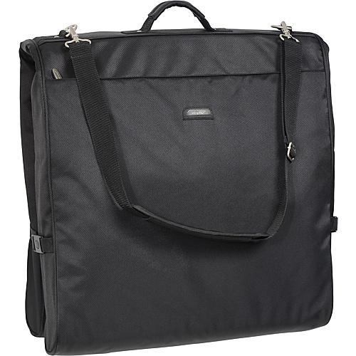 "Wally Bags 45"" Framed Garment Bag with Shoulder Strap Black - Wally Bags Garment Bags"