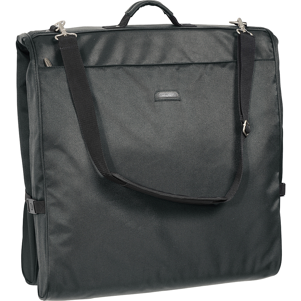 Wally Bags 45 Framed Garment Bag with Shoulder Strap Grey Wally Bags Garment Bags