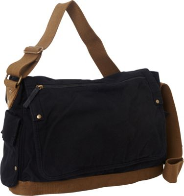 Vagabond Traveler Casual Style Canvas Messenger Bag Black - Vagabond Traveler Messenger Bags