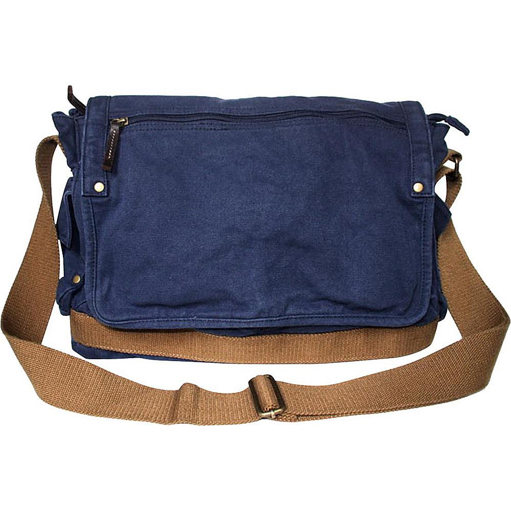 Vagabond Traveler Casual Style Canvas Messenger Bag Blue - Vagabond Traveler Messenger Bags - Work Bags & Briefcases, Messenger Bags