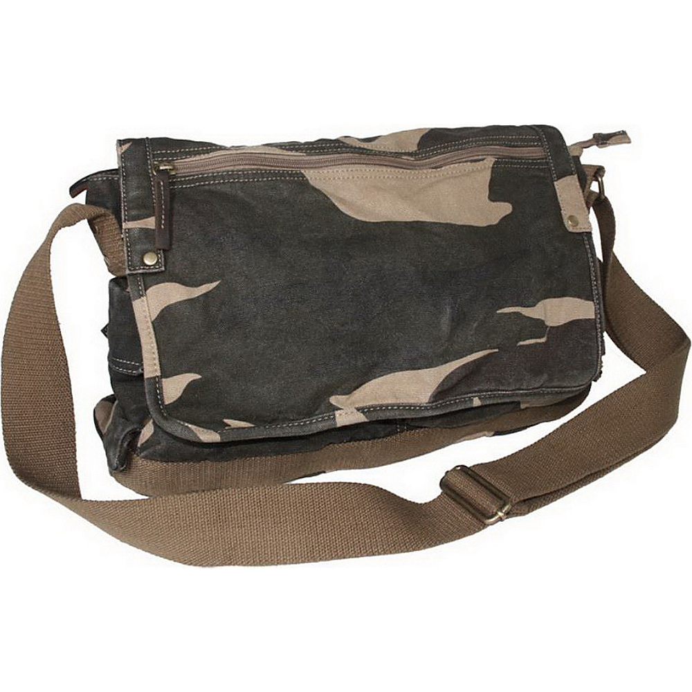 Vagabond Traveler Casual Style Canvas Messenger Bag Camouflage - Vagabond Traveler Messenger Bags - Work Bags & Briefcases, Messenger Bags
